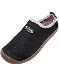 Yudesun Scarpe Pantofole Uomo - Inverno All aperto Neve Pantofole Caldo  Morbido Antiscivolo Piatto Peluche 656c649e287