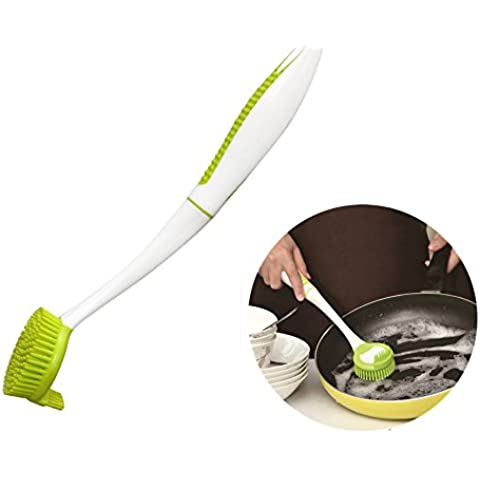 byce con manico TPR Pan Pot Brush, Spazzola ciotole piatto