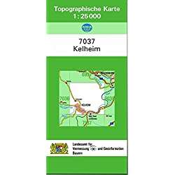 TK25 7037 Kelheim: Topographische Karte 1:25000 (TK25 Topographische Karte 1:25000 Bayern)