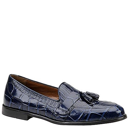 Stacy Adams Sabola Schlangenleder Leder Slipper Blue