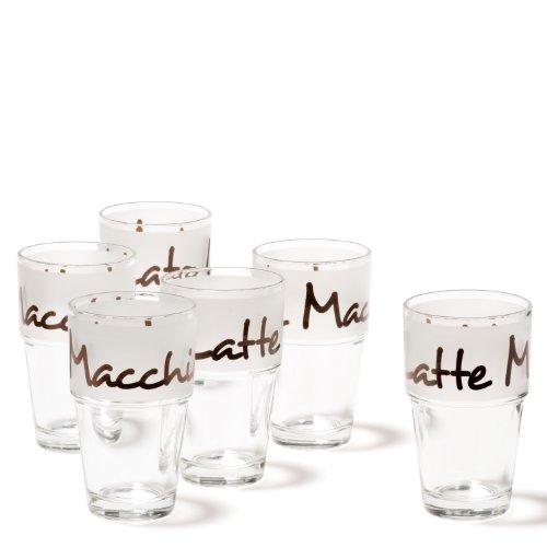 Leonardo Becher Solo satiniert Dunkelbraun, 6-er Set, 410 ml, Höhe 14 cm, Glas, 043465