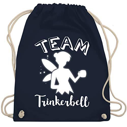 Typisch Frauen - Team Trinkerbell Mädelsabend - Unisize - Navy Blau - WM110 - Turnbeutel & Gym Bag (Lustige Team Motto Kostüm)