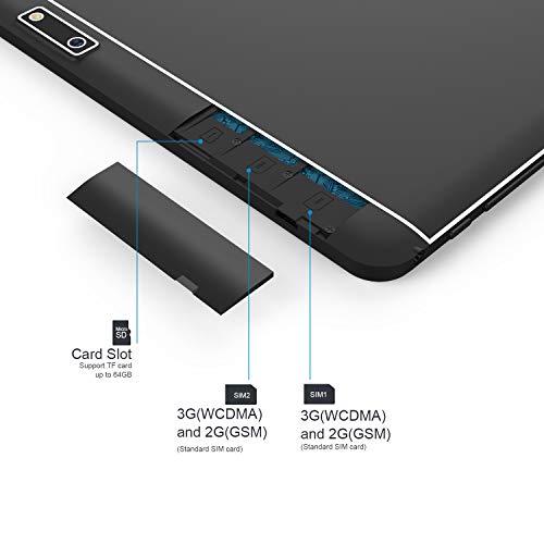 Tablet Android 10 pulgadas desbloqueado 3G teléfono computadora Tablet con Dual SIM tarjeta ranuras cámara celular soporte 2 3 WiFi Bluetooth 1 GB 16 GB MTK 6580 Quad Core pantalla táctil IPS 1280 x 800