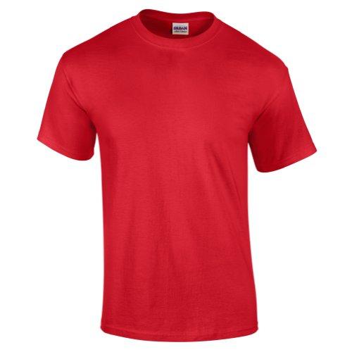 Biene auf American Apparel Fine Jersey Shirt Cherry Red