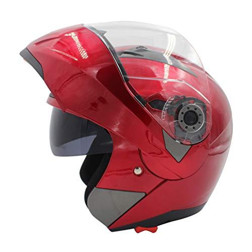 Casco moto integrale da uomo donna, fodera in cotone antifodera flip-up, quattro stagioni felpe traspiranti caschi motocross 53-61cm