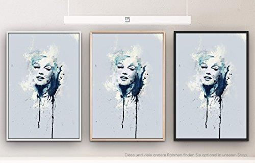 Marilyn Monroe XII 90x60cm auf Leinwand im Schattenfugenrahmen Natur schlicht - kann bspw. mit einer Lasur weiterbearbeitet werden