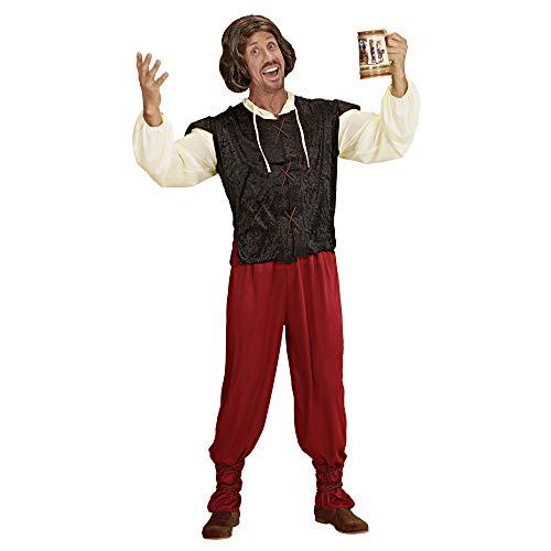 Kostüm Mittelalterliche Erwachsene Für Bauer - Widmann 35332 - Erwachsenenkostüm mittelalterlicher Gastwirt, Hemd mit Weste, Hose und Schnüre für die Beine, Größe M