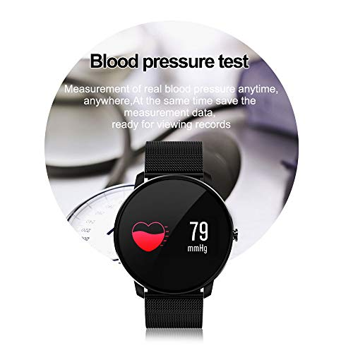 41csXvDVe1L. SS500  - Jersh Electronic Smart Watch,High Quality Color Screen Fine Steel Strap Multifunction Smart Bracelet Fitness Tracker Unisex Activity Tracker Temperament Smart Watch