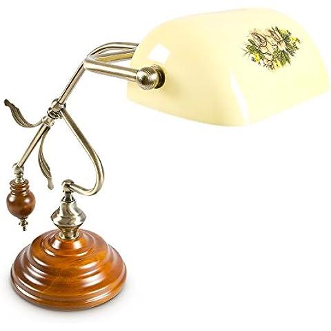 Relaxdays 10016610 - Lámpara de mesa, 26,5 x 44 x 43 cm, cable 170 cm, zócalo E27
