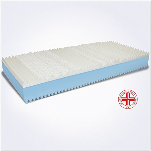 confronta il prezzo MiaSuite 120X190 Alto 22 Ortopedico con Dispositivo Medico 2 9 Zone e Lastra in Waterfoam 18 Fodera Guard Anallergica Antiacaro e Traspirante Piazza e Mezza Memory Foam Silver-Materasso Sommo, 120 x 190 cm miglior prezzo