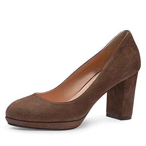 Evita Shoes, Scarpe col tacco donna Damen34_42 Marrone (marrone)