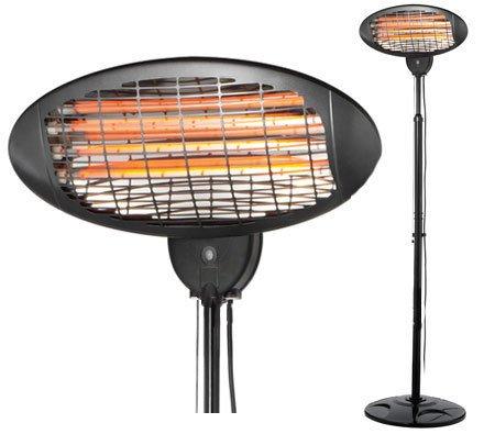 Sentik® electric 2000W Freistehend Quarz Indoor Outdoor Garten Terrassenstrahler–3Power Einstellungen