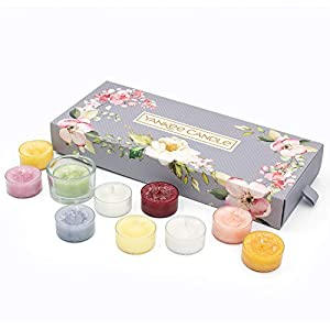 Yankee Candle Gift Set, 10 Scented Tea Lights & 1 Tea Light Holder, Garden Hideaway Collection