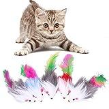 5x/set Cat giocattolo morbido colorato peluche gatto giocattoli mouse pile false Funny gatti giocare giocattoli per gatto gattino PET prodotti