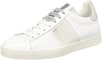 Bikkembergs Words 889, Sneaker a Collo Basso Donna, Bianco (White/Silver), 39 EU