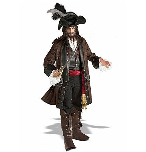 Gorgeous Halloween Masquerade erwachsenen männlichen Version von Fluch der Karibik Kostüm Kit Piratenkapitän Leistungen