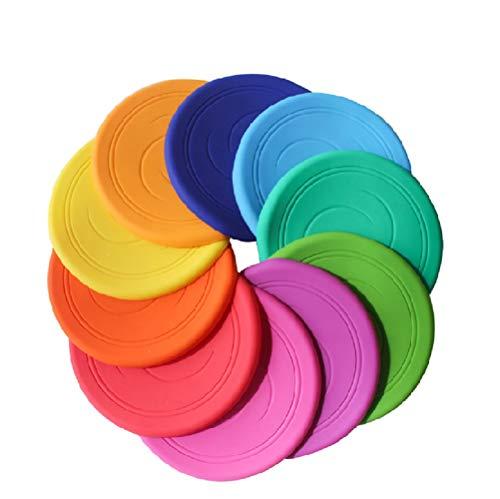 Frisbee Flying Disc Nicht rutschen Soft Silikon Spielzeug Eltern Kind Zeit Outdoor Sport 2 Stück Farbe zufällig