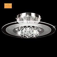 AUROLITE Modern Crystal Semi Flush Ceiling Polished, 2017 Version, RRP £135 (New 4 Lights Chrome)