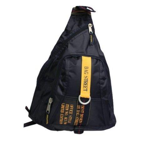 Preisvergleich Produktbild Bag Street Bodybag, schwarz, Rucksack (2352), ca. 50 x 34 x 15 cm, mit Reißverschluss und Tragegurt, Damen und Herren Tasche Freizeittasche