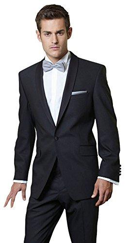 Smoking Wilvorst, Modell John, 100% Schurwolle aus der Weberei Cerutti, Slimline, schmaler Schalkragen Größe 106
