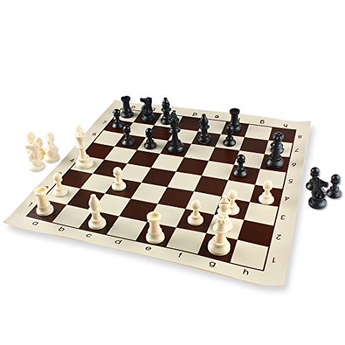 Andux Juego ajedrez Completo Tablero Plegable Casillas