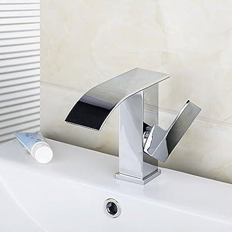 tourmeler New 92269eine Konstruktion, & Immobilien chrom Wasserfall Auslauf Single Griff Single Loch Badezimmer Mischbatterie Waschtischarmatur Waschbecken Wasserhahn