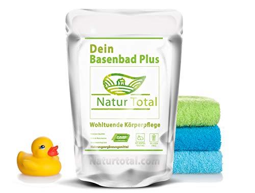 Basenbad Plus 750g Basen Fussbad Badezusatz: Energie Pur Basen Bad mit Magnesium, Basen, Basensalz Mineralstoffen - wohltuende Körperpflege (750g)