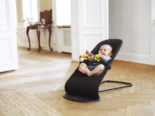 BABYBJÖRN Babywippe Balance Soft (Schwarz/Dunkelgrau, Baumwolle)