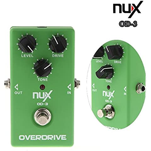 Pink Lizard Nux od-3 overdrive effetto chitarra elettrica a pedale tura bypass