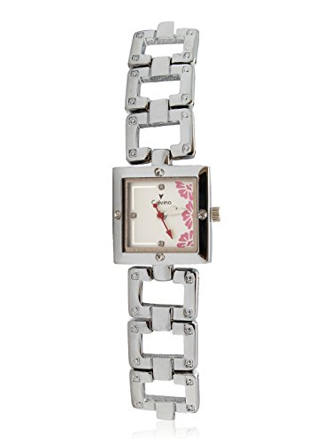 Calvino Women's White Dial Watch CLBC-153735-L_silver pinkwhite