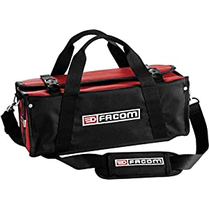 FACOM FCMBSSMB – Bolsa de textiles para mantenimiento (hasta 5 kg), color negro y rojo