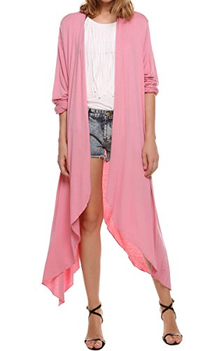 meaneor-womens-draping-long-sleeve-jersey-open-cardigan-pink-l