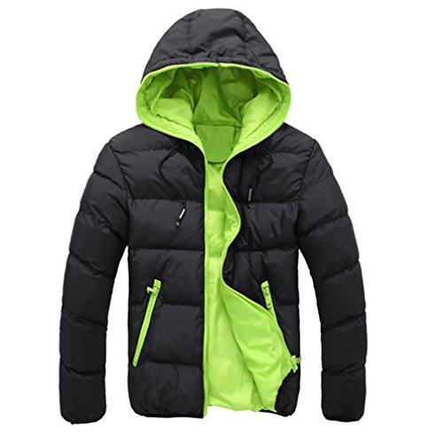 FNKDOR Herren Jugend Winterjacke Steppjacke Sweatjacke Wärmejacke Jacke