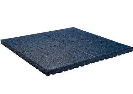 Preisvergleich Produktbild Fallschutzmatte 100 x 100 x 2,5 cm SCHWARZ Fallschutzplatte Bodenschutzmatte Gummimatte von Gartenwelt Riegelsberger