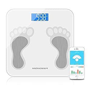Báscula de grasa corporal analizador de composición corporal con aplicación de smartphone, escala digital inteligente…