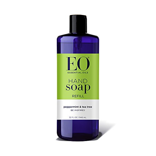 EO Hand Soap Refill, Peppermint & Tea Tree, 32 Ounce (Eo-hand Soap)