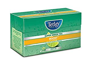 Tetley Super Green Tea, Boost, 30 Tea Bags