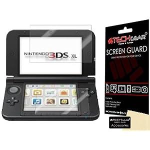TECHGEAR Displayschutz für Nintendo 3DS XL 2014 – Ultra Klare Schutzfolie für Nintendo 3DS XL [Oben + Unten] – mit…