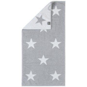Cawö Hand Towel Big Stars 524, 100% Cotton, silver, 50 x 100 cm