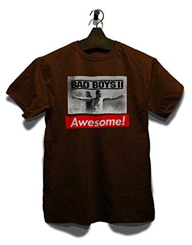 Awesome 10 T-Shirt Braun