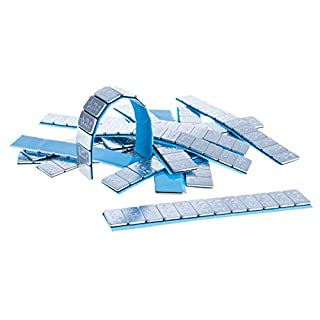 100 je 2,5g Stück Auswuchtgewichte 23kg Klebegewichte Stahlgewichte Kleberiegel Abrisskante Verzinkt Riegel Dünn Slim FE Eisen Runde Kante