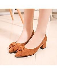 À la lumière du printemps avec la taille, la lumière des célibataires femmes blanc chaussures, 44