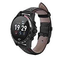 Garsent Bluetoot Smartwatch, 1.22 in TFT Screen Smart Bluetooth 4.0 Watches Fitness Tracker Watch with Blood/Heart Rate Monitor, Pedometer, Calorie IP68 Waterproof Smart Stopwatch for iOS, Android.