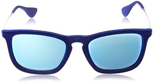 Ray-Ban - Lunette de soleil Chris RB4187 Wayfarer - Femme Bleu