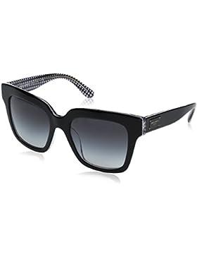 Dolce & Gabbana DG 4286 30808G, Gafas de Sol para Mujer, Negro / Gris, 51