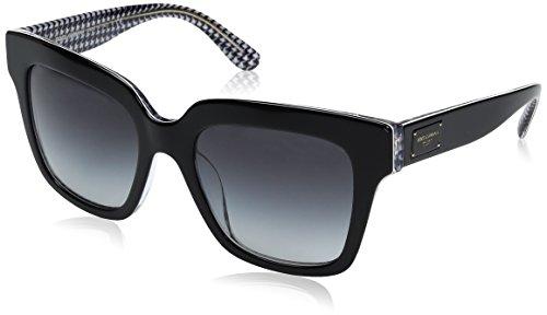 Dolce & Gabbana Damen 0dg4286 Sonnenbrille, Schwarz (Black/Pied De Poule/Greygradient), 51