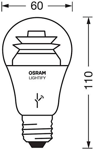 osram lightify classic a led gl hlampe 10 watt e27 klar dimmbar warmwei 2700k. Black Bedroom Furniture Sets. Home Design Ideas
