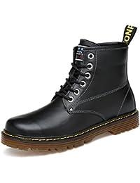 ZQ@QXAutunno e Inverno round Martin Stivali Stivali di moda in Europa e negli Stati Uniti Martin stivali, Black…