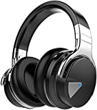 Cowin E-7 Wireless Bluetooth Headphones with Microphone Over-ear Stereo Headsets, Volume Control, 30 Hours Playtime - Black