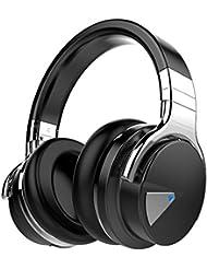 COWIN E7 Casque Audio à Réduction Active de Bruit Over-Ear Bluetooth 4.0 stéréo Écouteurs sans fil Avec Microphone NFC, léger, Autonomie de 30 heures - Noir
